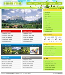 Köy Dernek Sitesi için Web Tasarım Çalışması